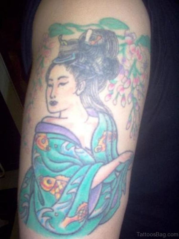 Japanese Geisha Tattoo Image