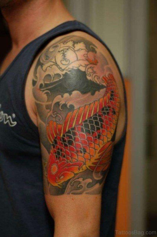 Japanese Half Sleeves Shoulder Tattoo Design