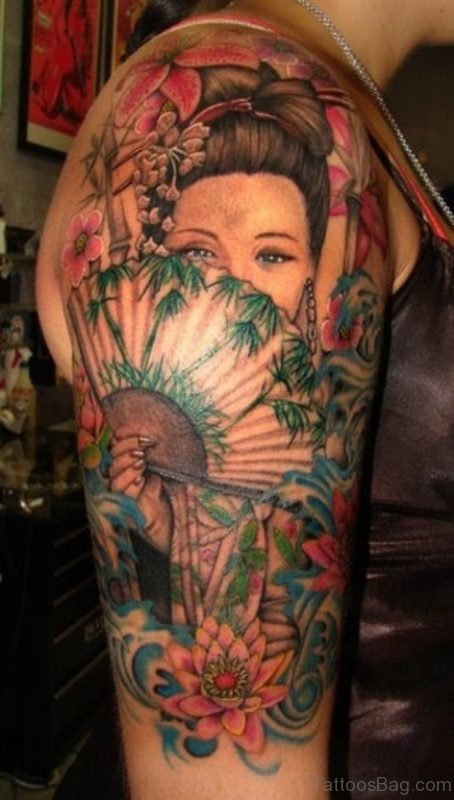 Japanese Tattoo On Shoulder