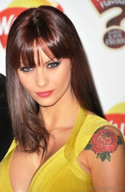 Jessica Jain Colored Flower Tattoo