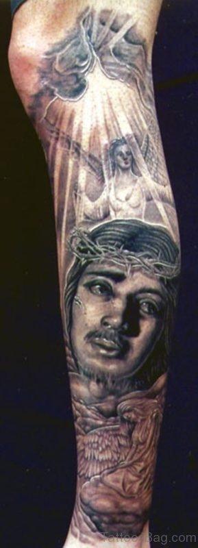 Jesus And Angel Tattoo
