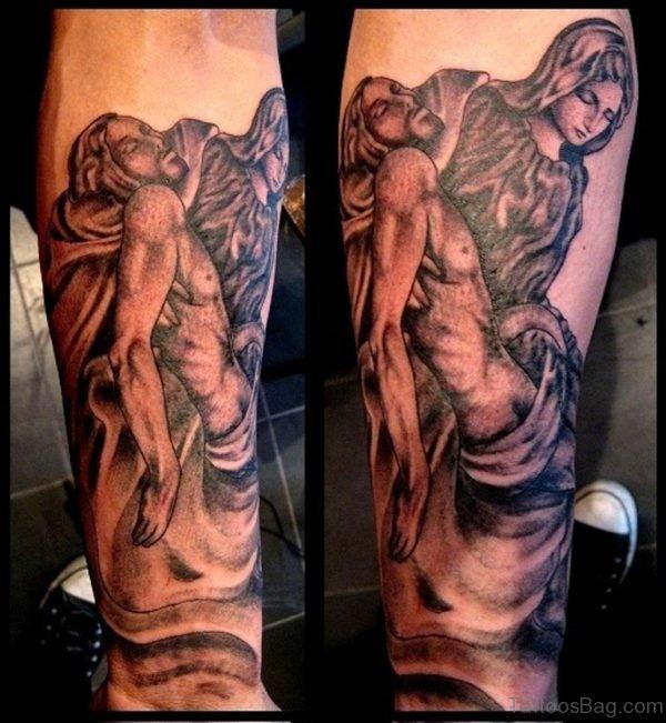 Jesus And Mary Tattoo Design