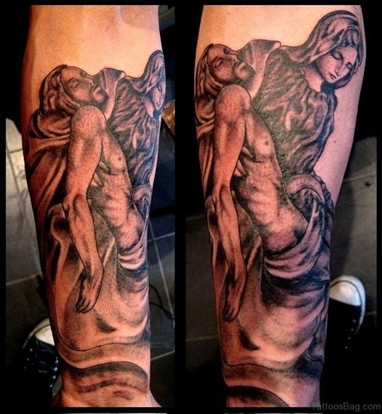 b5d73db83 72 Great Looking Jesus Tattoos For Arm