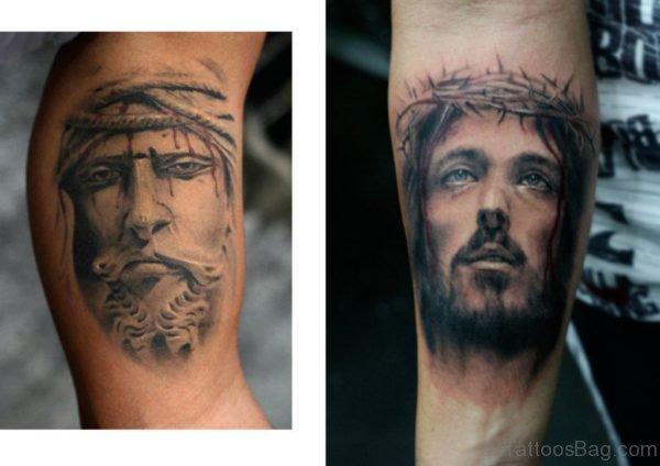 Jesus Arm Tattoo photo