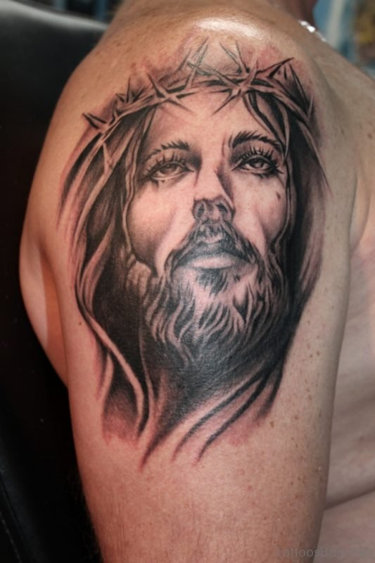 61 Classic Jesus Tattoos On Shoulder This is because getting inked is no longer this tattoo that says, jesus you are my anchor, symbolizes that christ is the anchor that keeps you. tattoo designs tattoosbag com