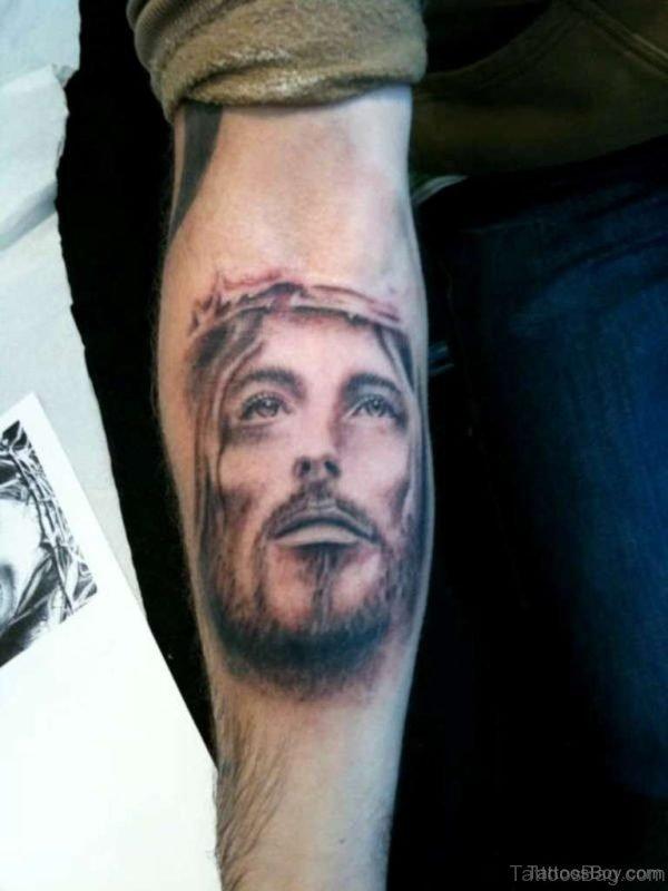 Jesus Face Tattoo