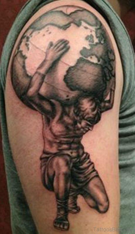 Jesus Holding Globe Tattoo
