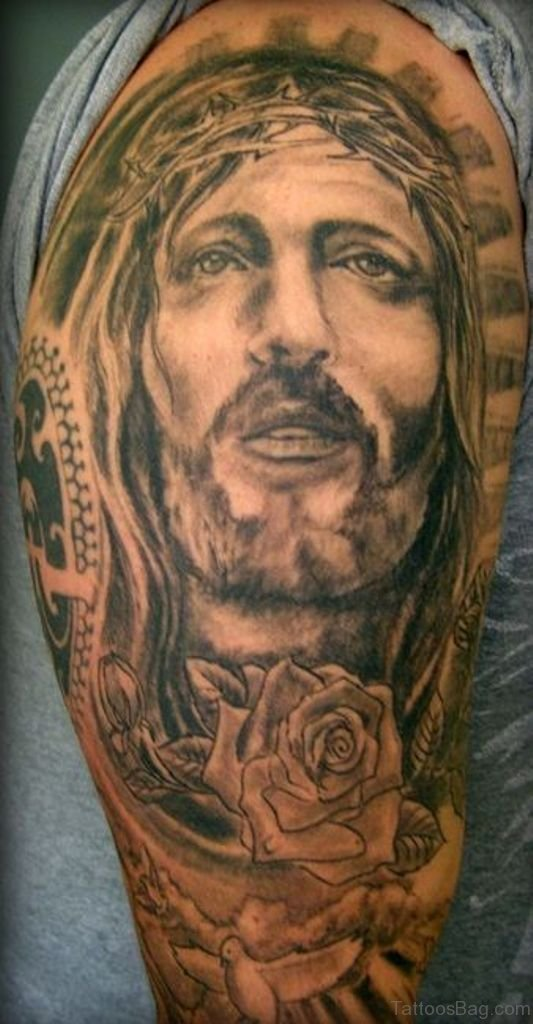 61 classic jesus tattoos on shoulder