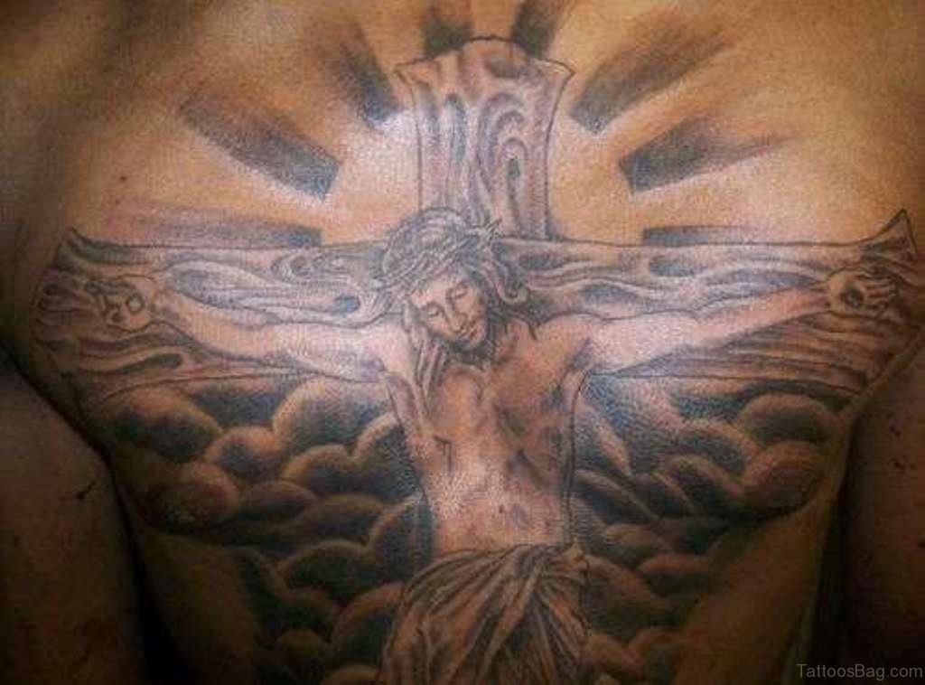 70 mind blowing jesus tattoos for chest. Black Bedroom Furniture Sets. Home Design Ideas