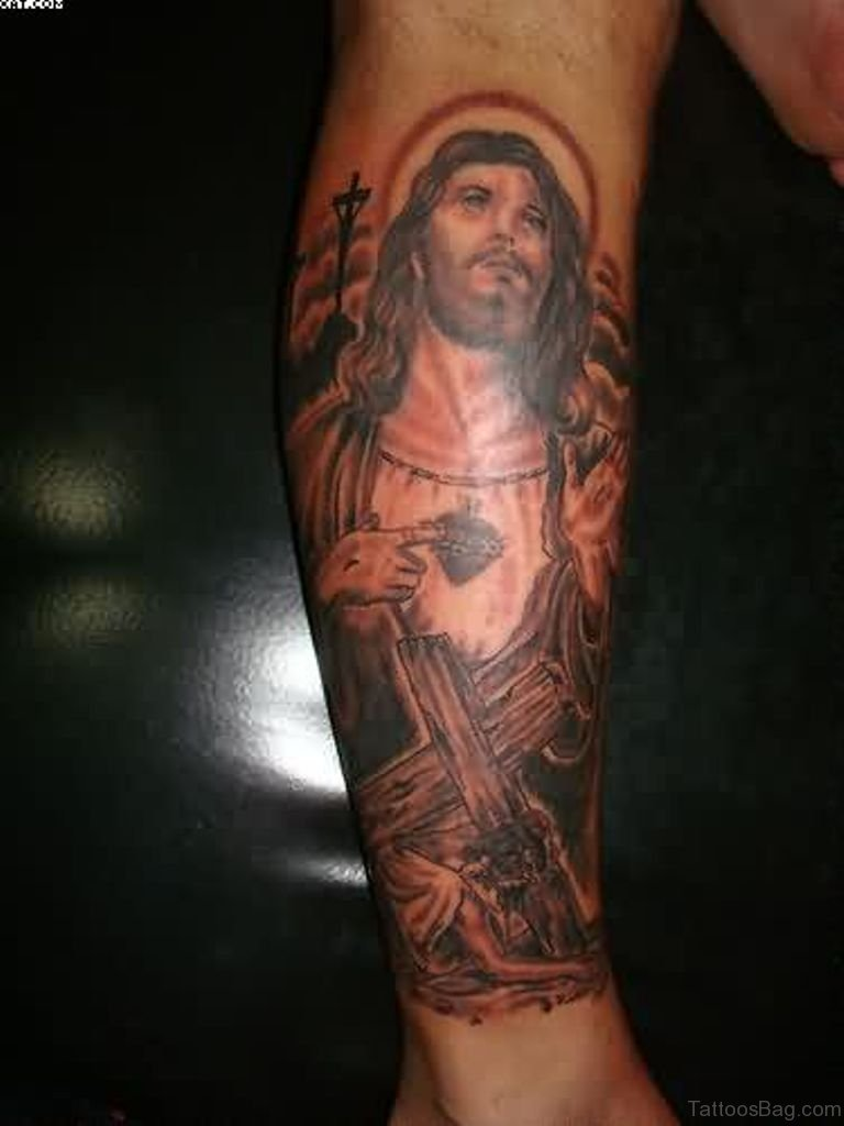 72 great looking jesus tattoos for arm for Jesus tattoos on arm