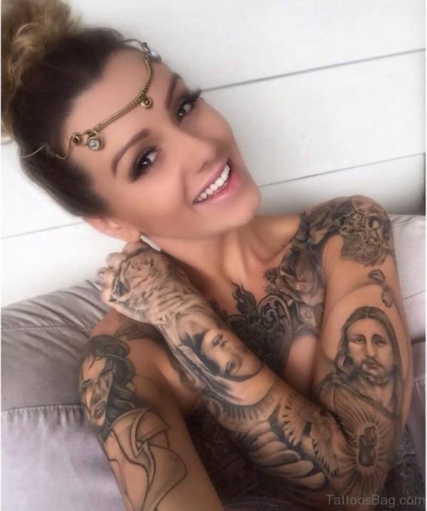 Jesus Tattoo For Sweet Girls