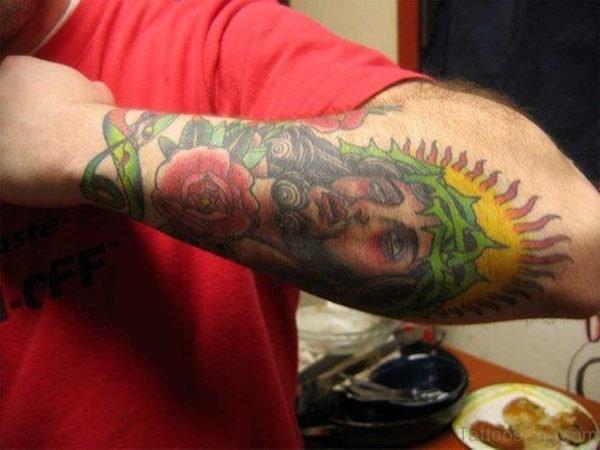 Jesus Tattoo On Arm Image