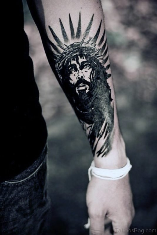 Jesus Tattoo On Arm