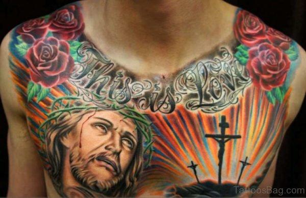 Jesus Tattoo On Chest