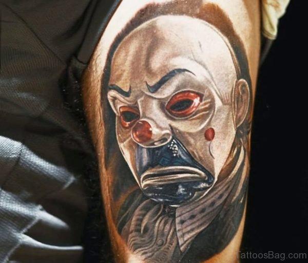 Joker Portrait Tattoo