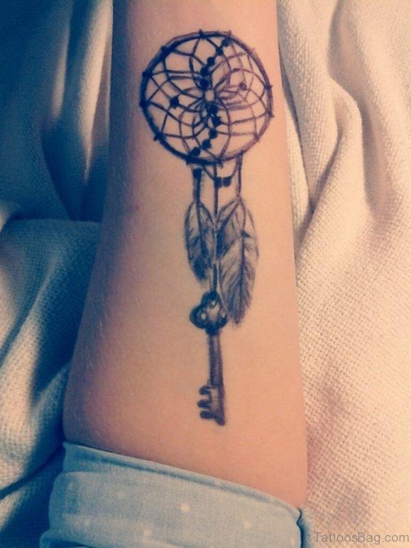 Key And Dreamcatcher Tattoo