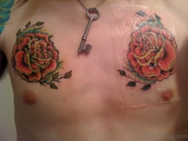 Key And Rose Tattoo