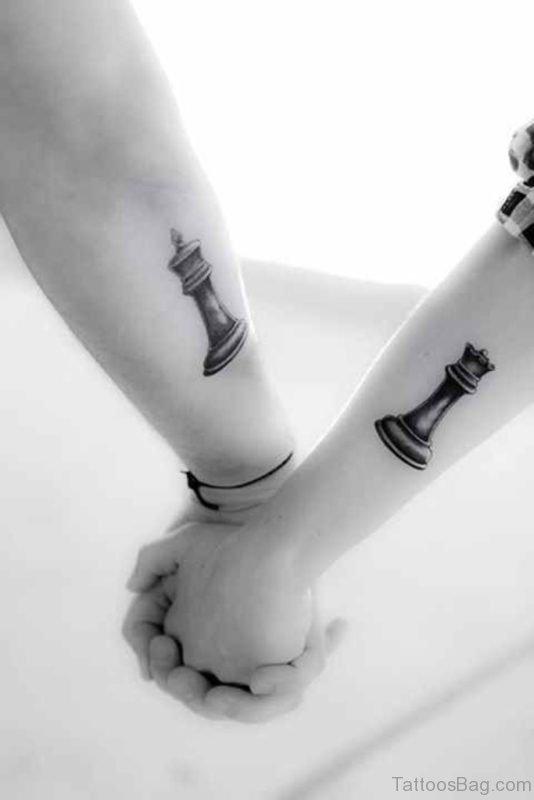 King And Queen Chess Tattoo