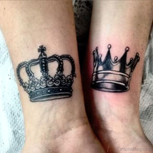 King Queen Crown Tattoo