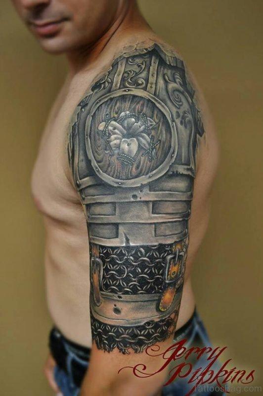 Knot Shoulder Half Sleeves Designer Tattoo