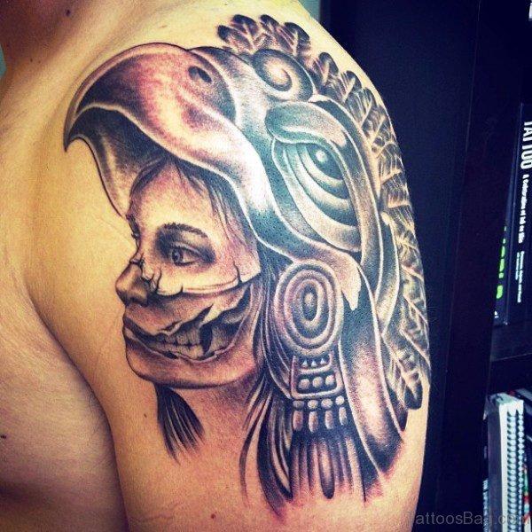 Lady Skull Shoulder Tattoo
