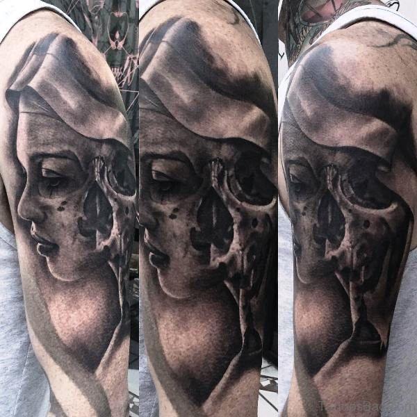 Lady Skull Tattoo