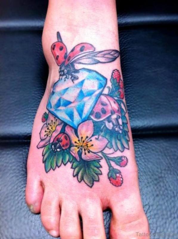Ladybug On Diamond Tattoo