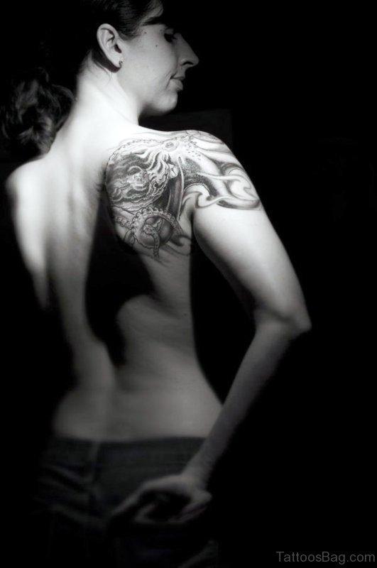 Large Back Shoulder Tattoo