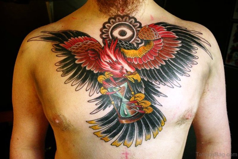 35 traditional eagle tattoos on neck