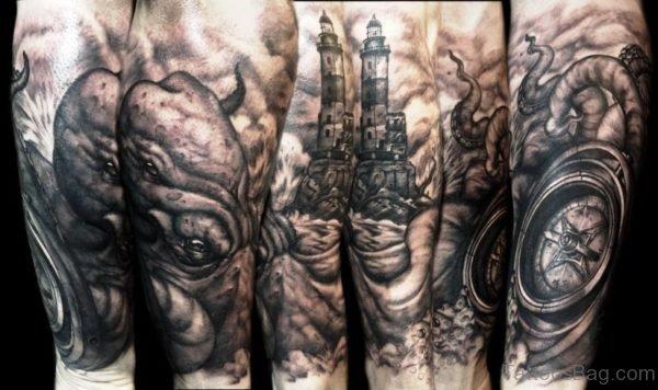 Large Raptor Tattoo