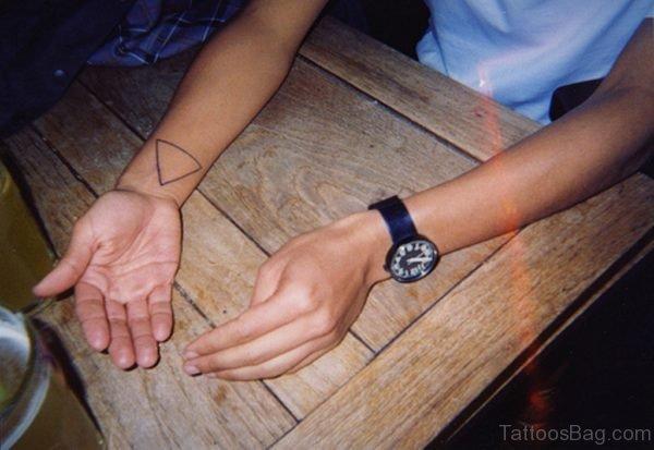 Large Triangle Tattoo On Wrist
