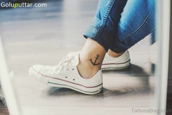 Latest Anchor Tattoo Design On Ankle