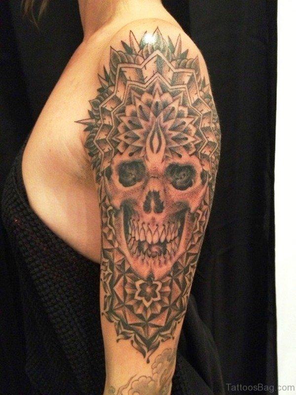Laughing Skull Tattoo