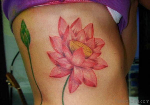Leaf And Lotus Tattoo