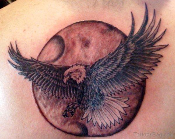 Leg Bald Eagle Shoulder Tattoo