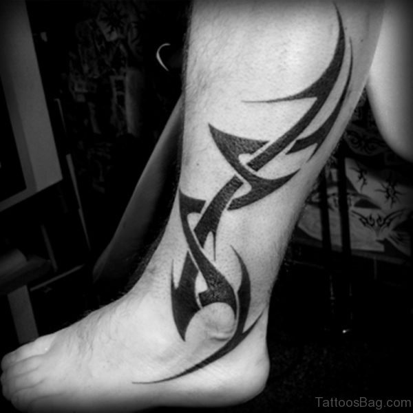 Leg Tribal Tattoo