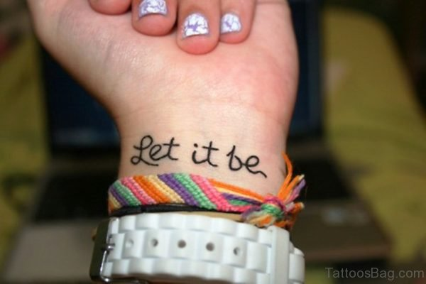 Let It Be Tattoo Design