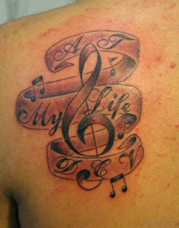 Lettering Music Tattoo
