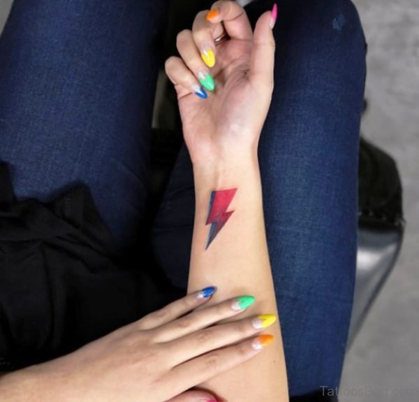 Lightning Bolt Tattoo On Wrist
