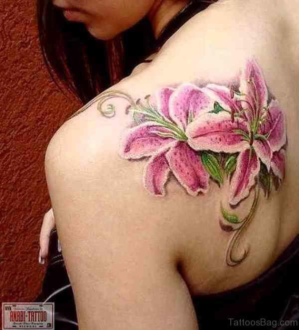 Lily Flower Tattoo Design
