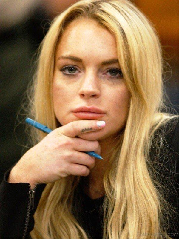 Lindsay Lohan Shh Tattoo