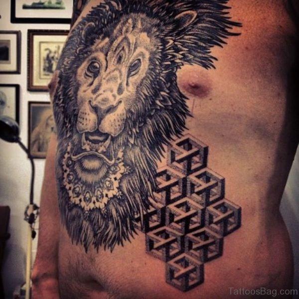 Lion And Mandala Tattoo