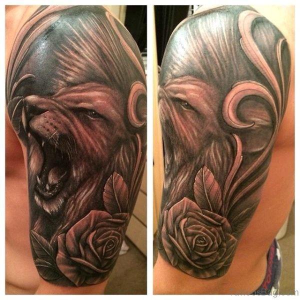 Lion Half Sleeves Shoulder