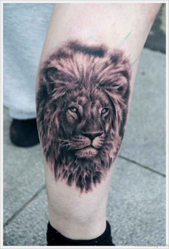 36 nice looking lion tattoos for leg for Lion head tattoo