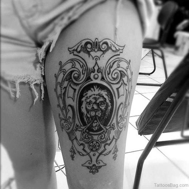 73 beauteous mandala tattoos designs on thigh. Black Bedroom Furniture Sets. Home Design Ideas