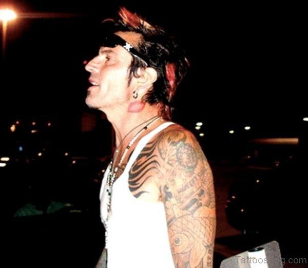 Lips Mark Tattoo Design On Neck