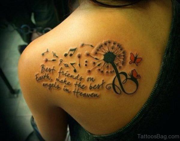 Literacy Music Note Tattoo