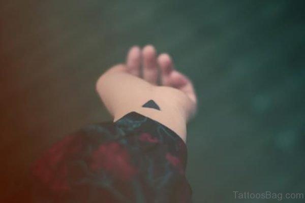 Little Black Triangle Tattoo