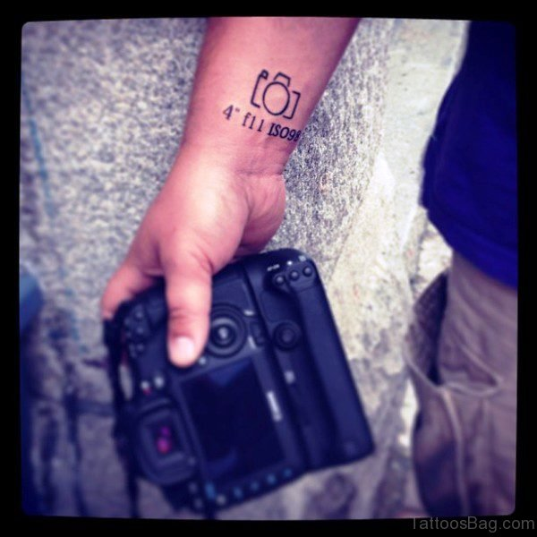 Little Camera Wrist Tattoo