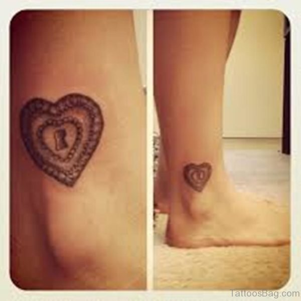 Lock Heart Tattoo